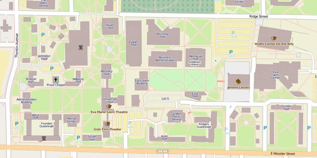 Bowling Green State in OpenStreetMap today